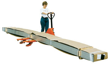 Sidewinder long and bulky load pallet truck