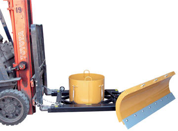 Snow Plow Forklift Attachment