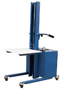 One of the more remarkable benefits of Easy Rack's steel ergonomic material handling lift is lightweight that translates to quiet, easy maneuverability.