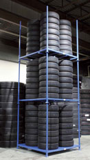 Tire racks can be ordered in many different styles.