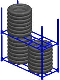 Our tire storage racks are attractive enough for the show room, yet durable enough for use in a bulk tire storage facility, tire warehouses, distribution centers, retail stores and tire shops.