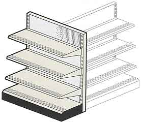 Refurbished, Used & New Retial Display Gongola Shelving