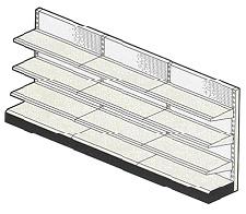"Used Wall display retail Gondola Starter Section - 14"" Deep"