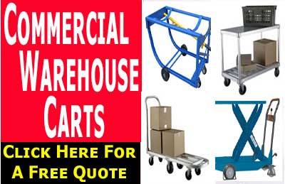 Industrial & Commercial Warehouse Carts Supplies, Sales & Accessories