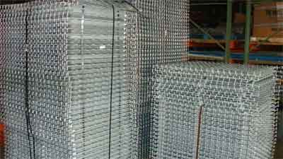Wire decking pallet rack shelving.