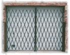 6' - 8' Wide Steel Double Folding Security Gates
