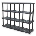 Plastic Bulk Shelving & Storage (4 Shelves)